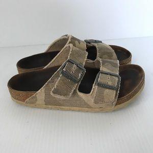 BIRKENSTOCK Arizona Desert Soil Camo Sandals Sz 37